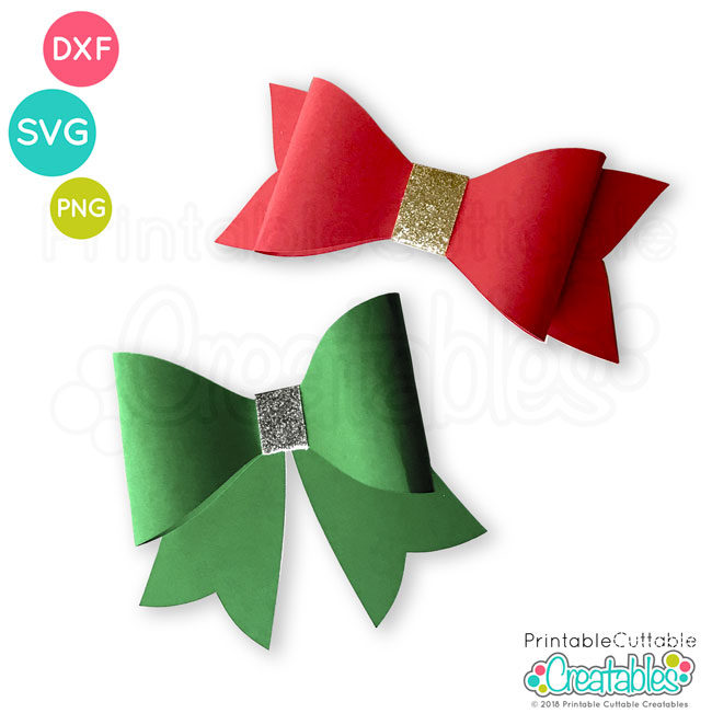 Free 3D Bow SVG File Template