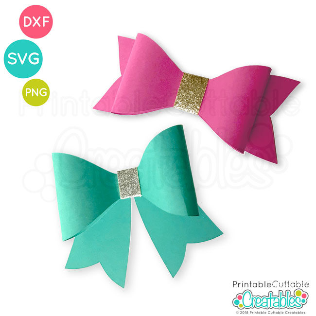 3D Bow Free SVG File Template