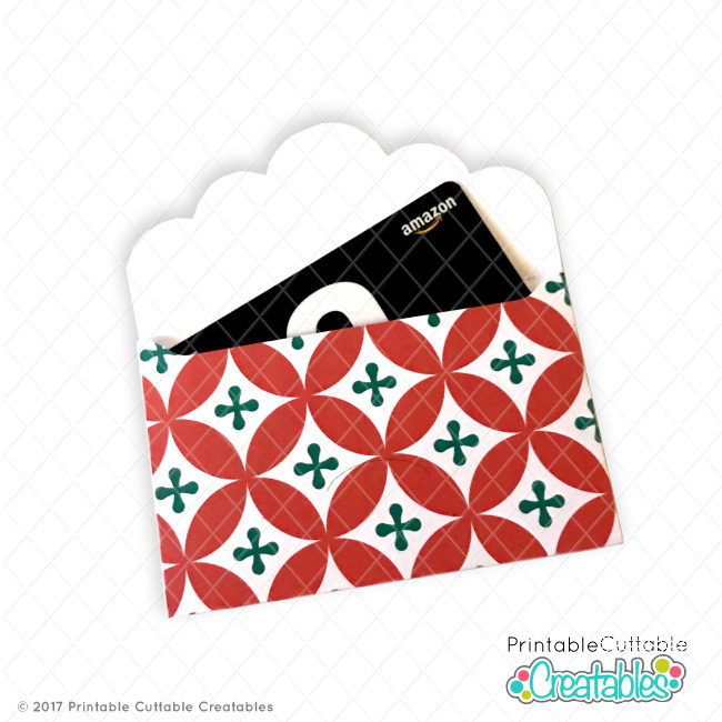 Scallop Envelope Gift Card Holder FREE SVG File