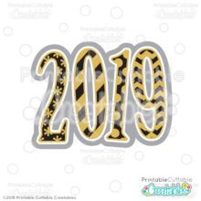 New Years 2019 Free SVG