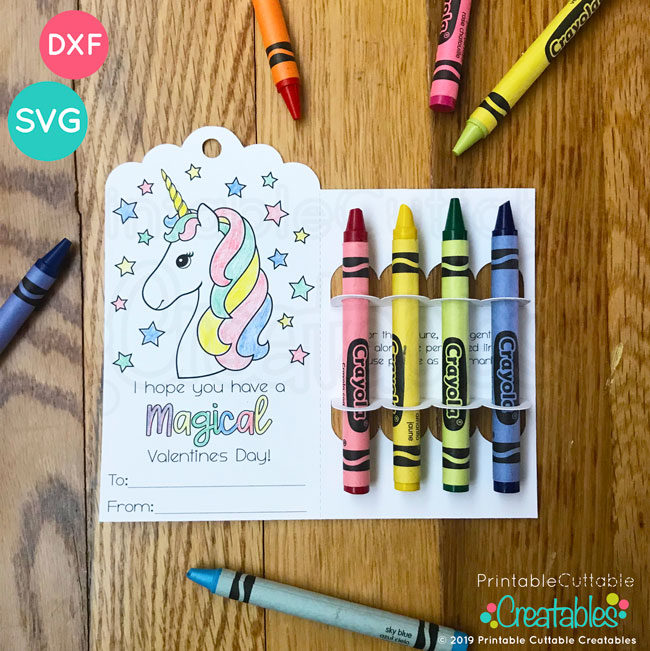 Valentine Crayon Holder SVG Files
