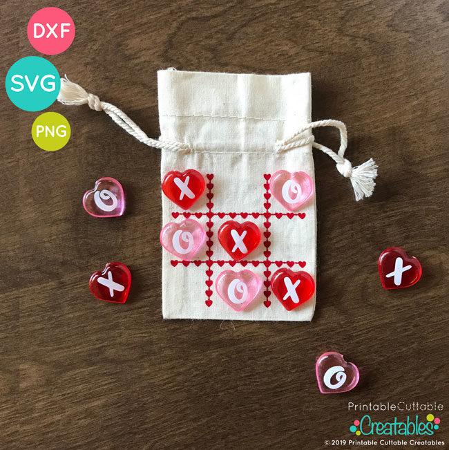 Valentine S Day Tic Tac Toe Free Svg File For Silhouette Cricut