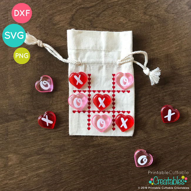 picture regarding Printable Cuttable Creatables named Valentines Working day Tic Tac Toe No cost SVG Document for Silhouette