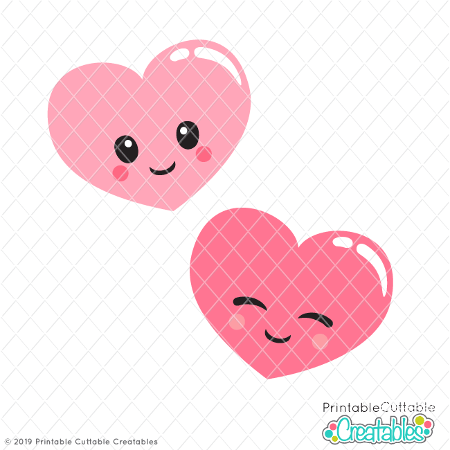 Cute Valentine Hearts Free SVG files