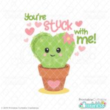 Stuck on You Cactus SVG File