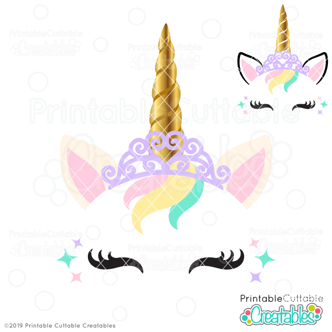Princess Unicorn Free SVG File