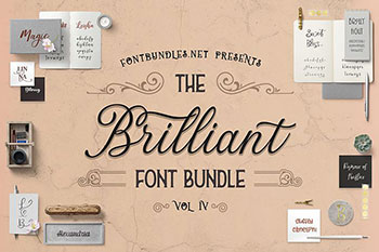 The Brilliant Font Bundle IV Commercial Use Fonts