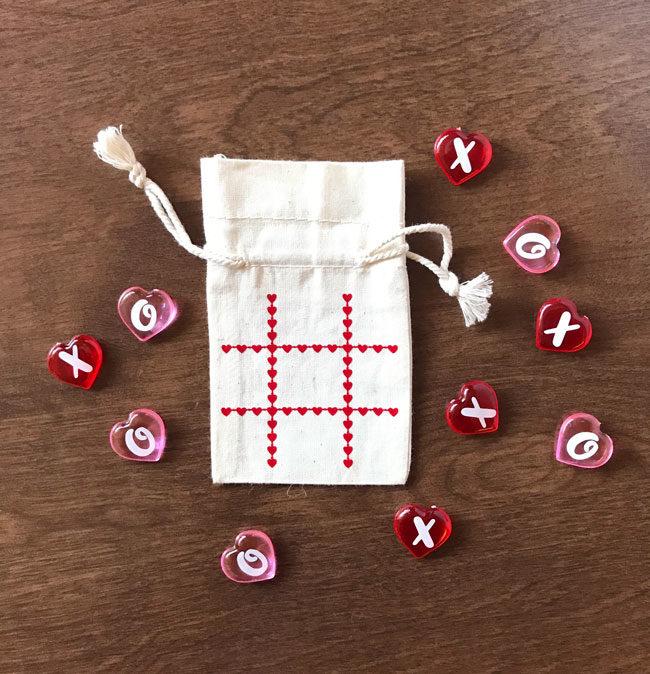 Tic Tac Toe Valentine Free SVG