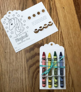 DIY crayon holder svg valentine bookmark