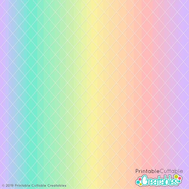 Pastel Rainbow Gradient Free Seamless Pattern
