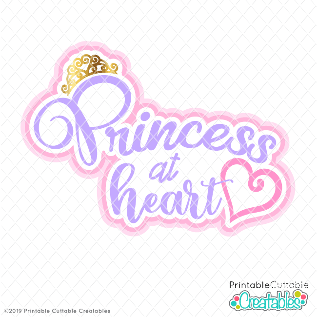 Princess at Heart Free SVG File