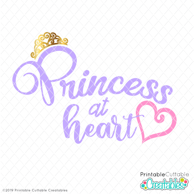 T102FB Princess at Heart Free SVG file preview2