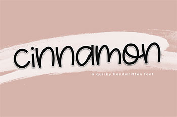 cinnamon free font commercial use