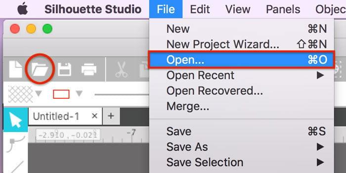 File Open SVG in Silhouette Studio