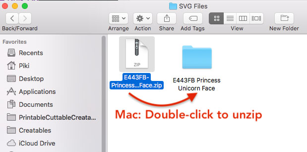 How to unzip SVG files on Mac