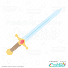 Knight Sword Free SVG File