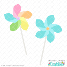 Spring Pinwheels Free SVG Files
