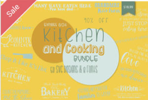 Kitchen and Cooking SVG Font Bundle Commercial Use