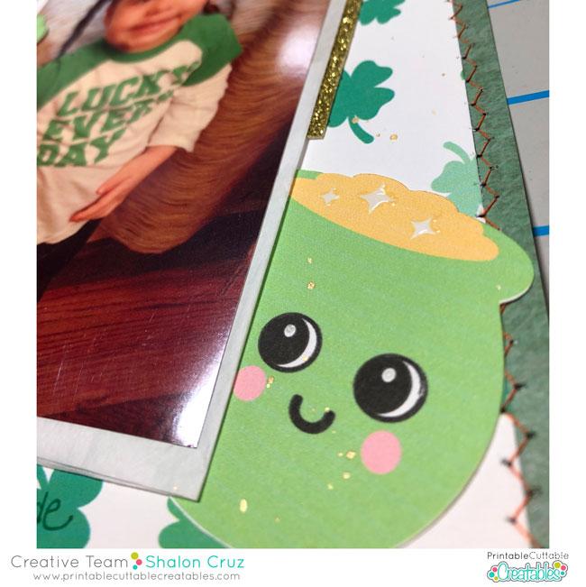 St Patricks Day Scrapbook Layout Inspiration svg cut file