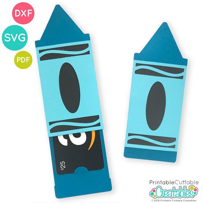 Crayon Gift Card Holder SVG File