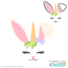 Bunny Unicorn Face Free SVG File