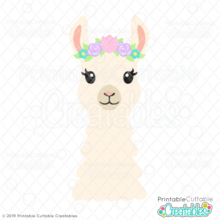 Spring Flowers Llama SVG File & Clipart
