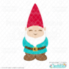 Cute Garden Gnome SVG File & Clipart