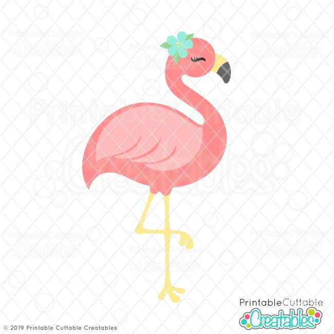 Flamingo cute. Pretty svg file clipart
