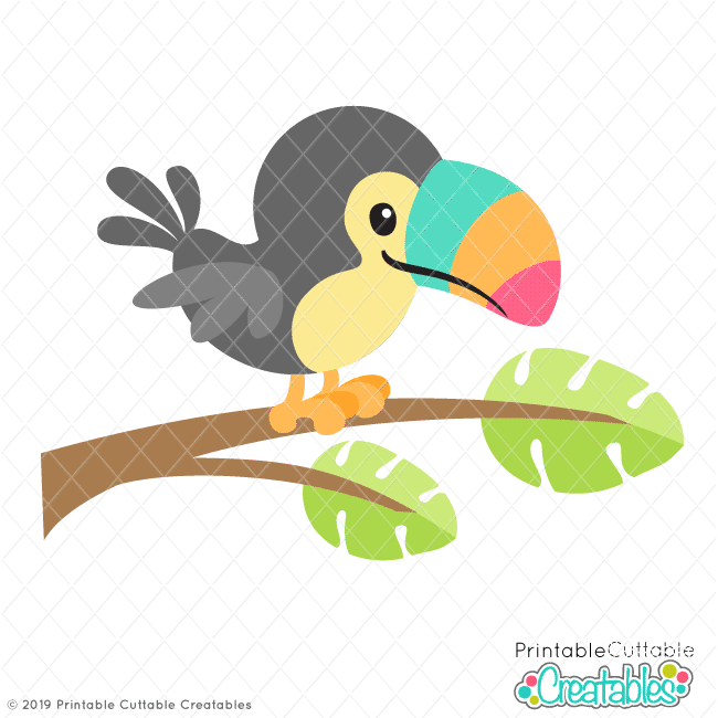 Tropical Toucan SVG File & Clipart