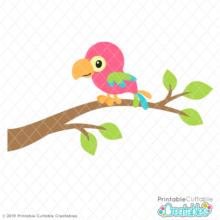 Tropical Parrot SVG File