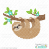 Sweet Sloth SVG File for Silhouette and Cricut