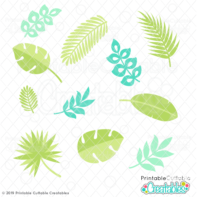 Tropical Leaves Free Svg Files Clipart For Cricut Silhouette