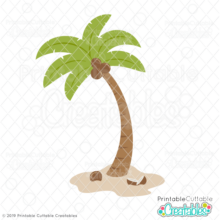 Tropical Palm Tree SVG File