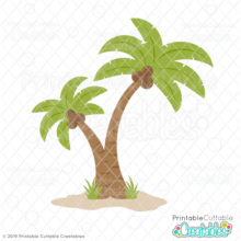 Palm Tree Duo SVG Cut File