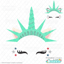 FREE Unicorn of Liberty SVG File