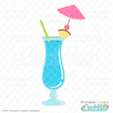 Tropical Hurricane Drink SVG file