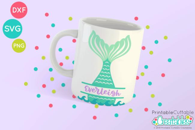 Mermaid Tail Monogram SVG file