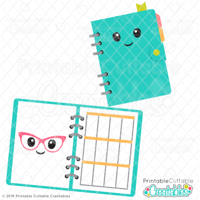 E475 Cute Planner SVG preview
