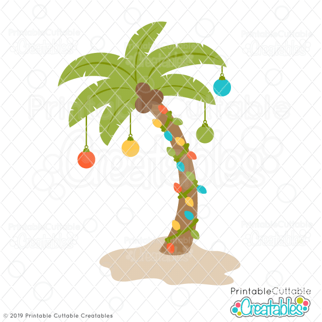 Christmas Palm Tree FREE SVG File for