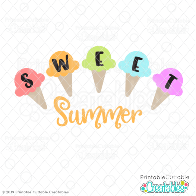 Sweet Summer Ice Cream SVG File