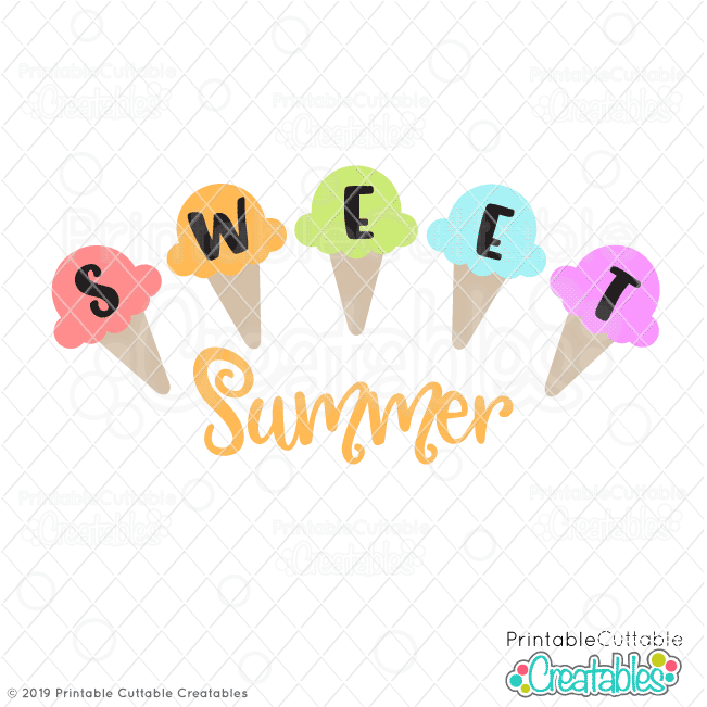 image regarding Printable Cuttable Creatables known as Adorable Summertime Ice Product SVG Record Printable for Cricut