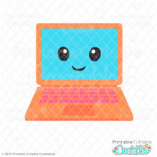 Cute Laptop SVG File