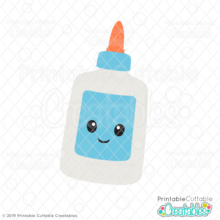 Cute Glue SVG File & Clipart