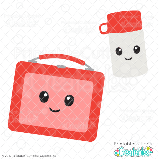 Cute Retro Lunchbox & Travel Cup SVG File
