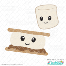 Cute S'more SVG File