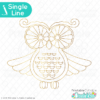 Foil Quill / Single Line Owl SVG Sketch File