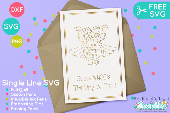 Free Foil Quill design - Free Owl SVG
