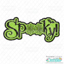 Spooky Spiderweb Title FREE SVG file