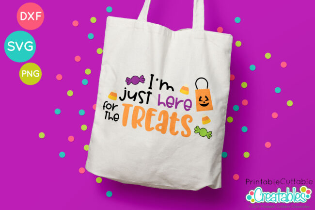 Halloween SVG File Trick or Treat bag Project Idea