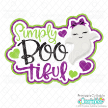 Simply BOO-tiful Scrapbooking SVG Cut File